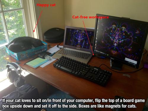 cat boardgame box hack