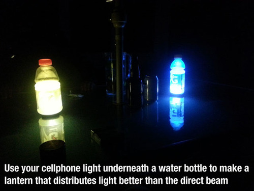 cellphone lantern hack