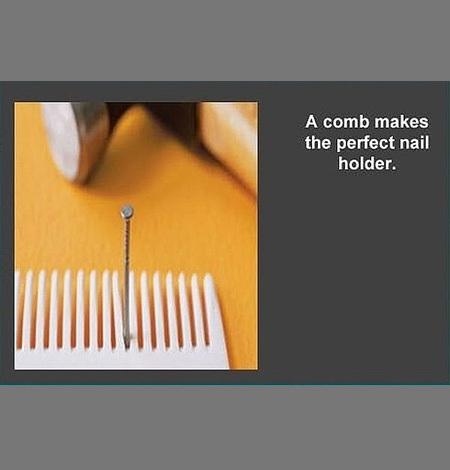 comb nailholder lifehack