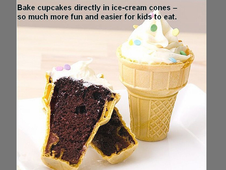 cupcakes icecreamcones tip