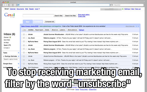 filter unsubscribe tip