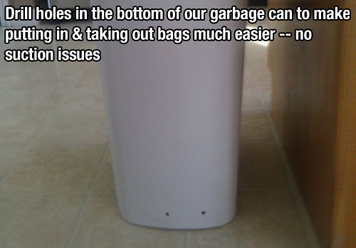 holes garbage can lifehack