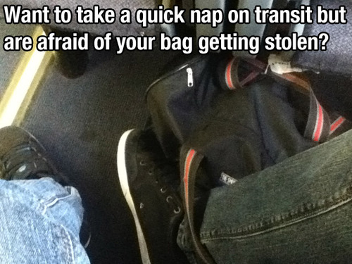keeping bag safe lifehack