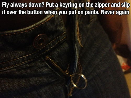 keyring zipper lifehack
