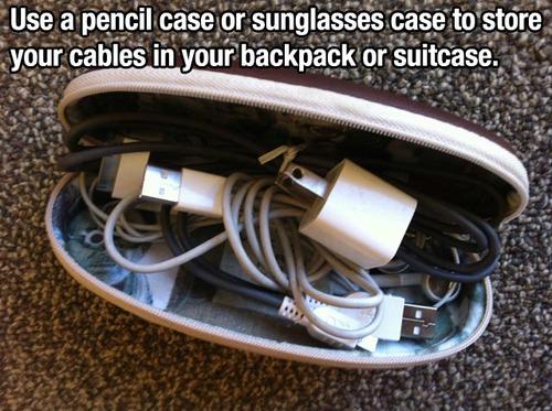 pencil sunglasses case lifehack