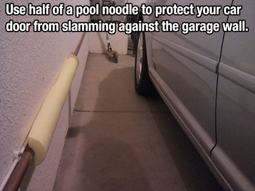 poolnoodle garagewall lifehack