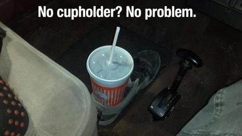 shoe cupholder tip