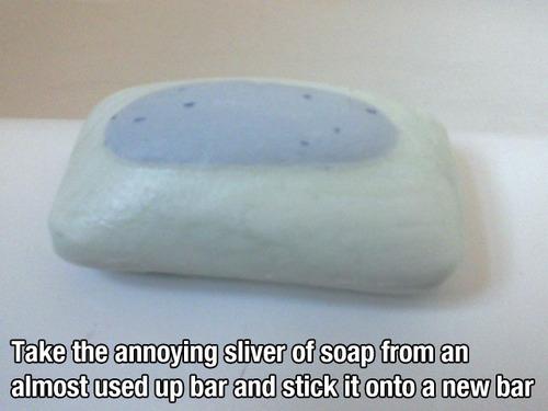 sliver soap lifehack