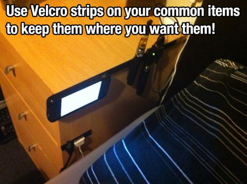 velcro strips trick