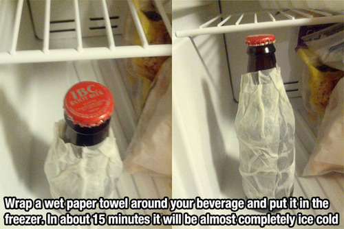 wet papertowel tip