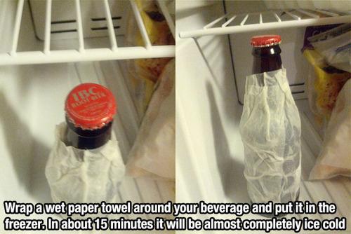wet papertowel tip