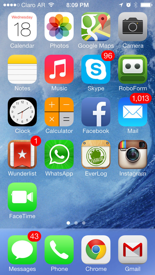 iPhone iOS 7 Home