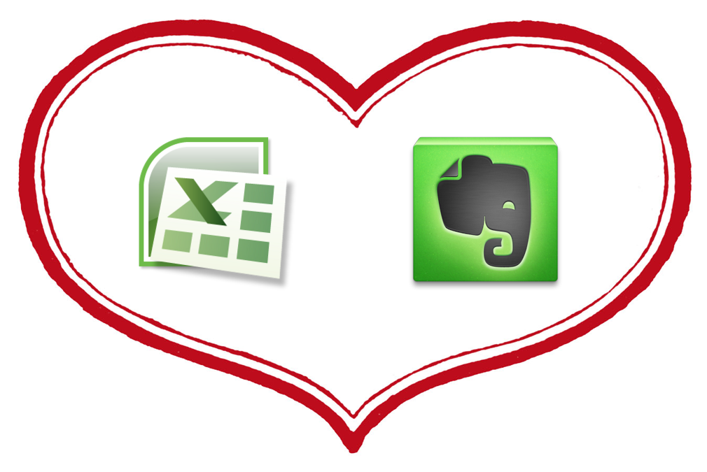 Evernote-Excel