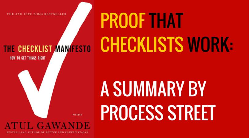 Checklist Manifesto Summary